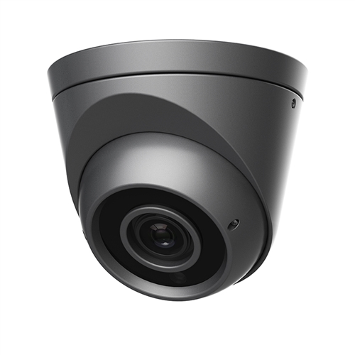 4MP IP Grey Dome Camera, 2.8-12MM Lens, P2P, UPnP, PoE, IR 164'