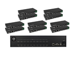 (1) HDMI 10x10 4Kx2K Matrix with (5) 150 Meter Extenders