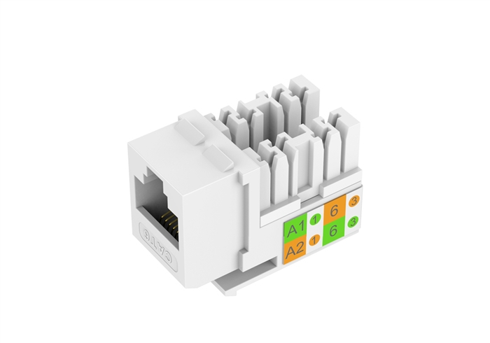 White Keystone Cat6 UL Listed Data Jack