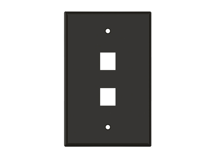 Brown Keystone Standard 2 Hole Wall Plate