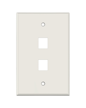 Lt. Almond Keystone MIDSIZE 2 Hole Wall Plate