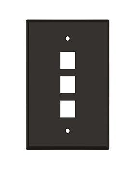 Brown Keystone Standard 3 Hole Wall Plate