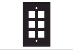 Brown Keystone Standard 6 Hole Wall Plate