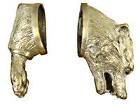 Bear Head pommel and Paw Guard SeT #27