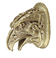 Hawk head Pommel with Celtic theme