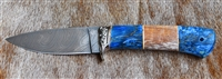 Colored Hand Forged Damascus knife
