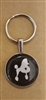 Domed Glass Poodle Keychain