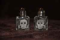 Mini Salt and Pepper with a cute skull or sacred heart.