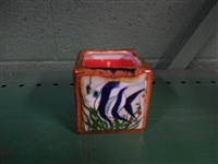 Black Angel Fish  on both sides of a tile box candle. Assorted colors of wax. No scent