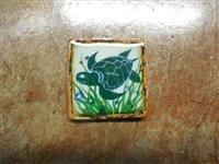 Swimming Sea Turtle  on both sides of a tile box candle. assorted colors of wax. No scent