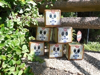 Tile box candles. Original art by Debbie Fuentes. Manufactured in Mexico. Sugar Skull.