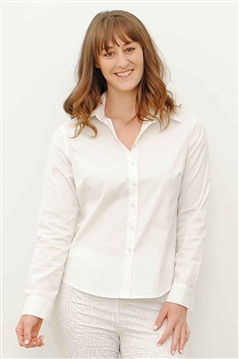 MPC Stretch Cotton Mary Shirt in White