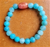 Mala, Wrist, Faceted Blue Agate