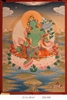 Thangka, Original Painting by RD Salga, Green Tara, 21.5 x 30 inches
