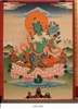 Thangka, Original Painting by RD Salga, Single Tara