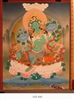 Thangka, Original Painting by RD Salga, Green Tara, 21.5 x 28 inches