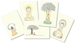 "Buddha Greeting Cards (Large 5x7"") – Limited Edition Set of 5, with art and quotes by Dzogchen Ponlop Rinpoche"