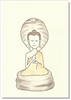 "Buddha with Cobra - small size, 3.5 x 5"", Single Greeting Card by Dzogchen Ponlop"