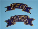 0859 Vietnam U.S. Army 42nd Infantry Platoon Scout Dog Scroll PC6