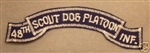 0870 48th Infantry Scout Dog Platoon Tab (Blue) PC6