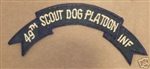 0872 49th Infantry Scout Dog Platoon Tab (dark blue) PC6
