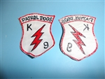 1970's Korea Air Base U.S. Air Force K9 Section Patrol Dogs Patch