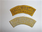 c0106k WW2 Official US War Correspondent Tab khaki, tan R10C