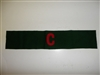 c0013 WW 1 Civilian War Correspondent Armband red C on green wool R10A