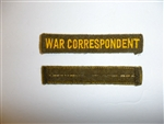 c0166 WW2 US Civilian War Correspondent Tab Heavy OD Wool R10C
