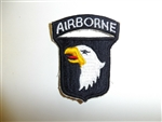 b0663 WW2 US Army 101st Airborne patch Red tongue with White Airborne tab R3A