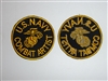 c0159 WW2 US Navy Combat Artist Shoulder Patch with EGA Marine R10C