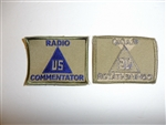 c0171 WW2 US Civilian Radio Commentator Patch Contractor R10C