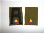 b0737  WW 1 US Army Shoulder patch 1st  First  Army Tank Corps units IR30B