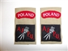 c0398p WW2 Polish Military AFPU Armed Forces Photographic Unit shoulder tabs R9E