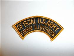 c0400  WW 2 Official U.S. Army Combat Illustrator tab R9E