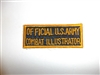 c0401  WW 2 Official U.S. Army Combat Illustrator tab rectangle R9E