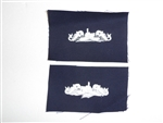 b3722 WW 2 US Navy Distinguishing Mark Submarine Petty Officer Blue cotton IR33C