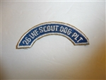 b3740 Korean War 26 Inf Scout Dog Plt worn over 3rd ID patch IR3B