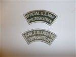 c0433 WW2 Official US War Photographer Civilian patch R9E