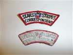c0406  WW 2 Stars and Stripes Correspondent tab US Army R9E