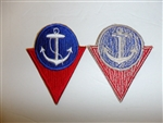 b3009 WW 2 US Civilian High School Victory Corps HSVC Sea shoulder patch R12A
