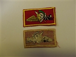 b5678 US USMC Vietnam Recon Wings for Force Recon on red backing R5D