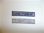 c0452 WW2 USN US Navy WAR CORRESPONDENT pocket tab off white R9E
