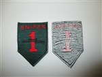 b5727 US Army Vietnam Sniper 1st Infantry Division Big Red 1 dark green IR38D