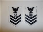 b6082 US Navy Rate Boatswain's Mate 1st class white IR34C