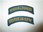 b8044 US Army Special Forces SF 1990's tab marrow edge