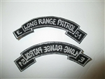 b7462 US Army Vietnam tab E  Long Range Patrol 51 white black IR37B