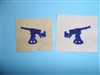 b8584 1890s US Navy USMC Distinguishing Mark Gun Pointer blue on white IR33B