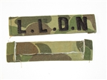 b8461 RVN South Vietnam Navy Frogman Name Tape LLDN duck hunter variation IR9A