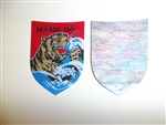 b9503 Vietnam RVN 9th Marine Corps Battalion Manh-Ho Strong Tiger woven IR11T